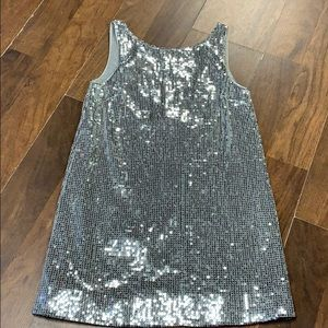 Free people silver sequin dress.  Size 4